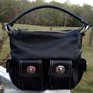 BCBGMaxAzria Black Satchel with pockets